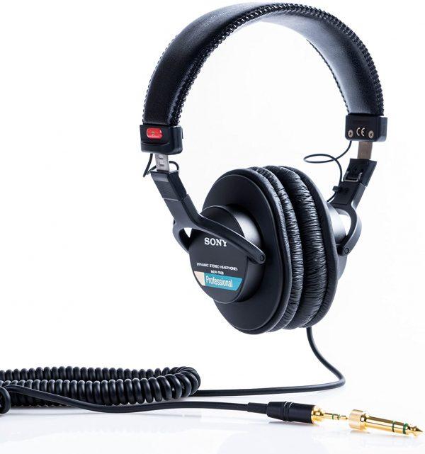 Sony Pro MDR-7506 Large Diaphragm Foldable Headphones image