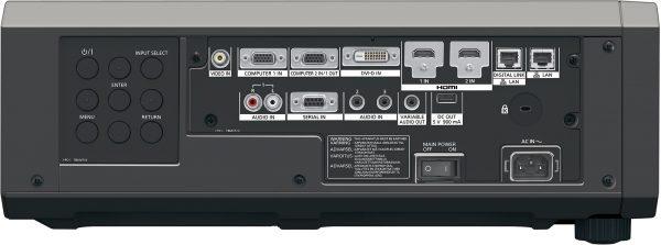 Panasonic PT-RZ570BU 5400 Lumen WUXGA 1920x1200 DLP Video Projector with Standard Lens - Black rear